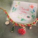 Christmas Bracelet ( Red mix Green )